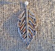ljussmycke Löv i silverfärg