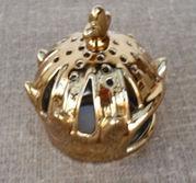 Guldkronan Viktoria för värmeljus höjd 12 cm och 10 cm i diameter
