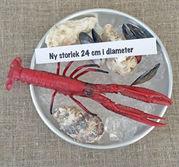 NYHET  Franskt skaldjursfat i aluminium 24 cm
