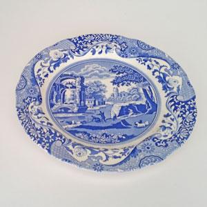 Spode Blue Italian mattallrik 26,5 cm