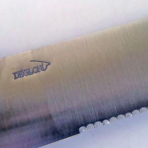 Stor Fiskklyvkniv från Deglon 33 cm blad, med plasthantag.